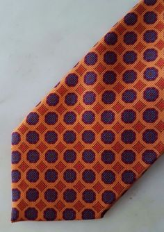 Fiorio Milano SS17 Orange Brown Blue Medallion necktie 100% wool Made in Italy | Clothing, Shoes & Accessories, Men's Accessories, Ties | eBay!