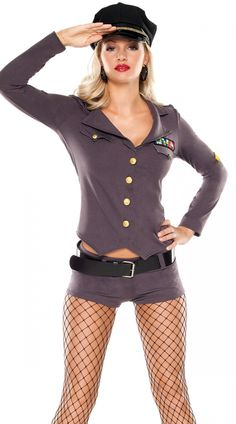 Sexy Halloween Costumes for Women, 2019 Adult Halloween Costume Ideas Top Gun Costume, Sexy Cop Costume, Army Costume, Sexy Halloween Costumes, Cool Costumes, Halloween 2, Halloween Cosplay, Costume Ideas, Army Girl Costumes