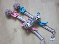 10 Beste Afbeeldingen Van Speenkoord Crochet For Kids Pacifier