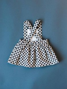 The Ayla Pinafore Dress was designed specifically because of popular request! If you desire a different color bib than the skirt, just click on the custom order button! I am very happy to make something special for you! The Buffalo Check print is so fun! The Pinafore is completely