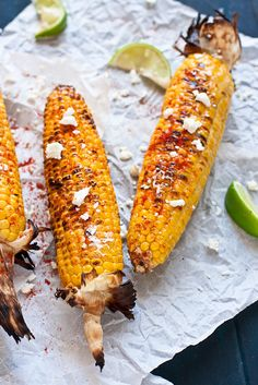Try making this Mexican Grilled Corn recipe at your next Cinco de Mayo fiesta. Hint: it pairs well with a Bud Light Lime-A-Rita ; Bud Light, Side Dish Recipes, Vegetable Recipes, Corn Recipes, Mexican Dishes, Mexican Food Recipes, Grilling Recipes, Cooking Recipes, Grilling Tips