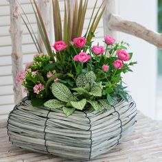 Pink Luxury Planted Basket, Mother's Day Gift