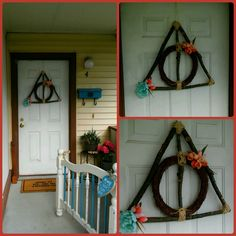 Harry Potter Deathly Hallows Spring Wreath. Easy DIY 30 minute project.
