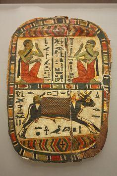 Footboard of Pekherkhonsu  Egypt, Upper Egypt; Thebes, el-Khokha, Tomb of Aafenmut Late Period, Kushite, Dynasty 25, ca. 712–664 B.C.