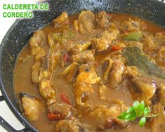 Caldereta de cordero Tapas Recipes, Meat Recipes, Mexican Food Recipes, Chicken Recipes, Cooking Recipes, Ethnic Recipes, Spanish Recipes, Recipies, Spanish Kitchen