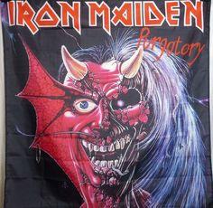Iron Maiden Purgatory HUGE 4X4 banner poster tapestry cd album | eBay