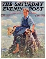 Boy and Dog in Nature (Eugene Iverd, June 11, 1932)