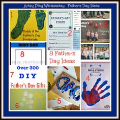 8 Father's Day ideas to do with children for Daddy and with Daddy!  (Artsy Play Wednesday)