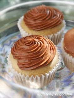 Gluten-Free Vanilla Cupcakes with Mocha Frosting
