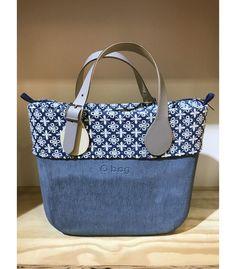 o bag mini carta da zucchero+sacca interna denim e bianco+bordo denim e bianco+manici corti goccia avorio grigio con fibbia