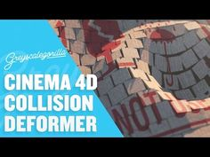 Cinema 4D Tutorial - Create A Wave Effect With Mograph And Collision Deformer - YouTube