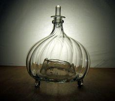 Fliegenfalle Fliegenglas mit Stöpsel, Biedermeier / 19. Jh, mundgeblasen, Abriss   eBay