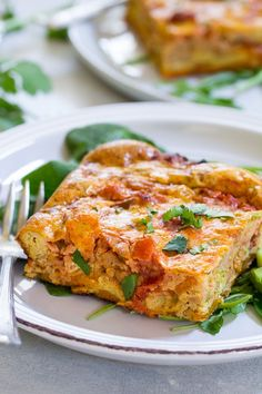 This Paleo and Whole30 Mexican Breakfast Casserole has a sweet potato crust and is packed with sausage, peppers and onions plus the perfect spices!