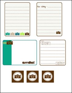 Printable -- Camera Journal Cards -- Love These!