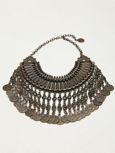 All you need is this #necklace to make your outfit.  Free People Antalya Coin Collar, 98.00 #FP #Jewlery