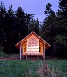 This may be my dream home away from home: Designed for avid bird watchers, this Mt. Vernon, Washington, cabin is designed in the spirit of a tent.