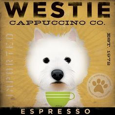 Westie Cappuccino Co.  Adorable!