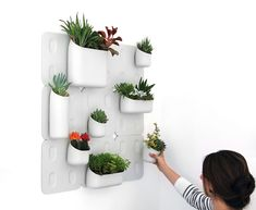 Urbio Vertical Garden, which according to Kickstarter.com, will start manufacturing soon.