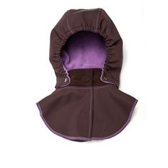 Baby Hood & Neck Warmer - Brown-purple