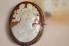 Roman Seashell Cameo Brooch Silver – Yourgreatfinds