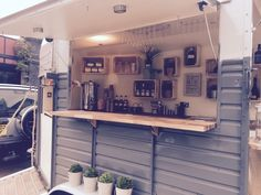 An old rice horse trailer has been given a new lease of life & converted into a mobile bar serving alcoholic and non alcoholic beverages as well as fresh coffee served from barista coffee machine.