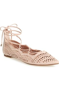 Free shipping and returns on Topshop 'N Fase Laser' Ghillie Flat at Nordstrom.com. A scalloped topline, trend-right perforations and gilt-tipped laces make this pointy-toe ghillie flat the perfect finish to warm-weather ensembles.