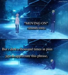 Anime: Kyoukai No Kanata Sad Anime Quotes, Manga Quotes, Anime People, Anime Guys, Boundaries Quotes, Heartbroken Quotes, Heartbreak Quotes, Sweet Texts, Dark Quotes