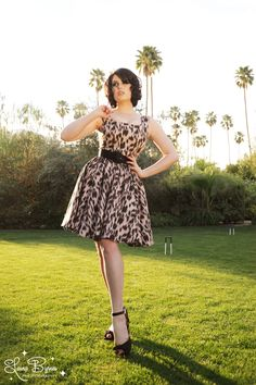Lana Dress in Melting Leopard Canvas