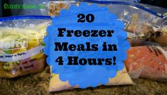 20 Freezer Meals in 4 Hours There are some decent ones in here~MS