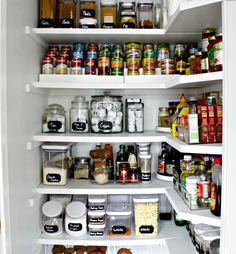 My Version of Tidying Up the Pantry - Stylish Revamp Kitchen Organization Pantry, Pantry Storage, Kitchen Storage, Home Organization, Organized Pantry, Organizing, Garbage Storage, Pantry Ideas, Kitchen Pantry Design