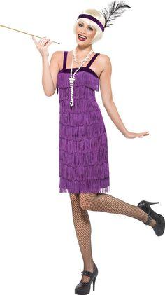 Déguisement années 20 charleston violet femme : Ce déguisement de Charleston…