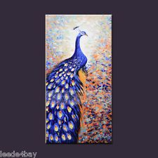 Hand-Painted Oil Painting On Canvas an Modern Art Wall Decor, Peacock (No Frame)