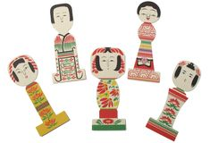 kokeshi bookmarkers