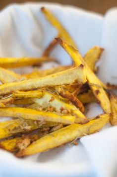 Garlic Rosemary Plantain Fries (AIP/Paleo)