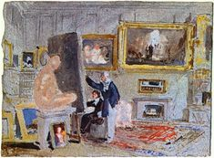 Painter+at+the+easel+-+William+Turner