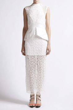Day Dresses - Intertwined Lace Dress in White - PRE ORDER - Manning Cartell