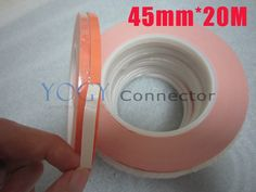 42.07$  Buy here - http://aliw2r.shopchina.info/go.php?t=1210229147 - 45mm x20M Thermal Conductivity Double Sided Adhesive Tape for LED Heatsink Chip Module Heat Transfer Device 42.07$ #SHOPPING