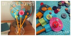 DIY Pencil Toppers Craft