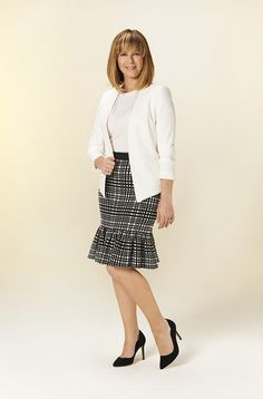 Inspired by her mother's love of pencil skirts, KATE GARRAWAY picks out the best the high street has to offer this season, including nifty modifications to make them more practical. Black High Heels, High Heels Stilettos, Shoes Heels, Kate Garraway, Vogue, Cute Heels, Popular Dresses, Fashion Heels, Womens High Heels