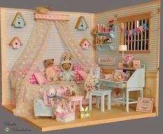 https://flic.kr/p/skbUcY | OOAK Diorama Romantic Room | My new room for romantic ladies. READY?? Tomorrow on *bay.