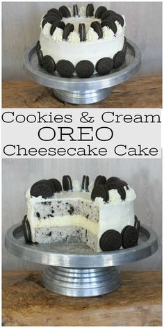 cookiesandcream recipegirlcom cheesecake recipegirl cookies recipe cream oreos cake from oreo and Cookies and Cream Cheesecake Cake Cookies and Cream Cheesecake Cake recipe from Cookies and Cream Cheesecake Cake recipe from Oreo Cake Recipes, Easy Cake Recipes, Cookie Recipes, Dessert Recipes, Easy Oreo Cake Recipe, Oreo Desserts, Dinner Recipes, Oreo Cheesecake Cake, Cookies And Cream Cheesecake