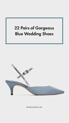 Chic blue wedding shoes
