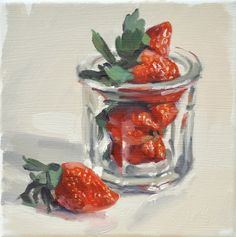 """This still life is painted """"alla prima"""" from life and in natural light. It magnifies the most simple and familiar objects and casts subtle shadows in which I like to find multiple colours."""