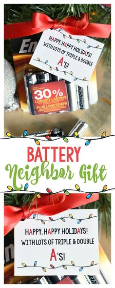 Super Simple Battery Neighbor Gift Idea-So easy and something they will actually use!