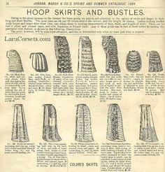1884 hoop skirts and bustles
