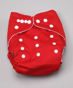 Take a look at this One Size Awesome Red Pocket Cloth Diaper by Awesome Blossom on #zulily today!
