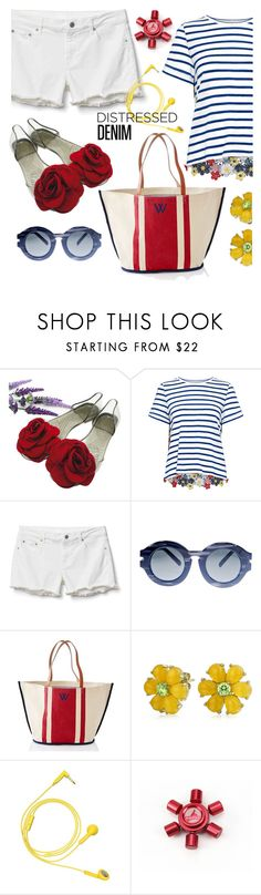"""W is for wildflower"" by interesting-times ❤ liked on Polyvore featuring Sea, New York, Gap, Grey Ant, Mark & Graham, Bling Jewelry and Happy Plugs"