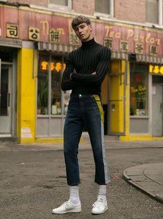 """strangeforeignbeauty: """" Frederik Ruegger by Emmanuel Sanchez """" Mode Masculine, Mode Streetwear, Streetwear Fashion, Men Street, Street Wear, New District, Look Man, Hommes Sexy, Inspiration Mode"""