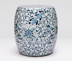 Hand Painted Fara Blue and White Translucent Resin Stool Suitable For Indoor or Outdoor Use Ceramic Stool, Ceramic Garden Stools, Modern Ceramics, White Ceramics, Painted Stools, Chinese Element, Blue And White China, Chinese Ceramics, Garden Chairs