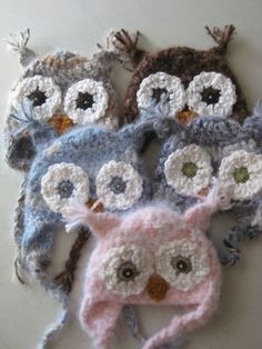 Baby owl hats. I wish they came in adult sizes. :)